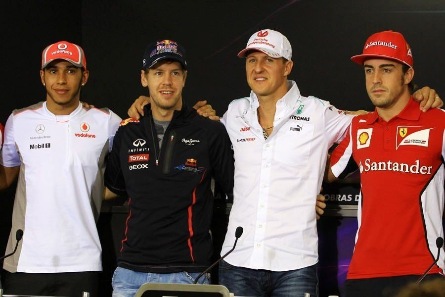 Hamilton - Vettel - Schumacher - Alonso